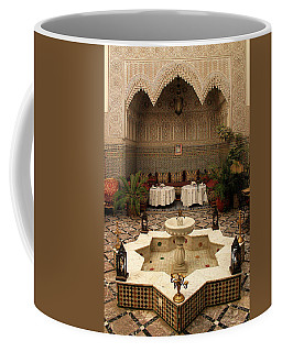 Interior Of A Traditional Riad In Fez Coffee Mug by Ralph A  Ledergerber-Photography