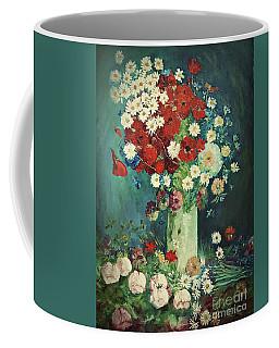 Interpretation Of Van Gogh Still Life With Meadow Flowers And Roses Coffee Mug