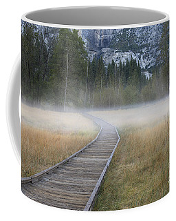 Coffee Mug featuring the photograph Into The Mist by Sandra Bronstein