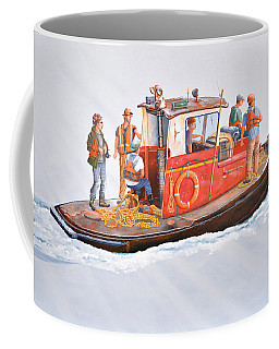 Into The Mist-the Crew Boat Coffee Mug