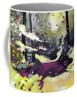Coffee Mug featuring the painting Into The Woods 2 by Anil Nene