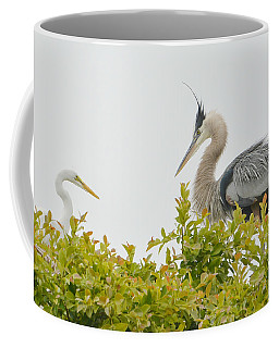 Intruder In The Treetops Coffee Mug by Fraida Gutovich