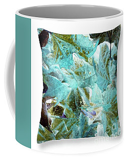 Inverted Leaves Throw Pillow Coffee Mug by Gayle Price Thomas
