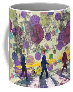 Invisible Men With Balloons Coffee Mug