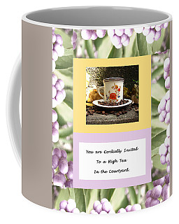 Invitation To Tea Coffee Mug by Mary Ellen Frazee