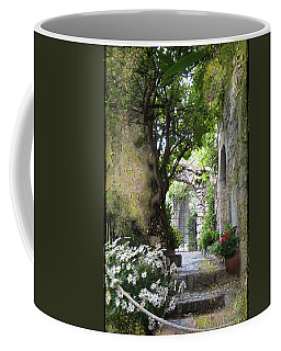 Inviting Courtyard Coffee Mug by Carla Parris