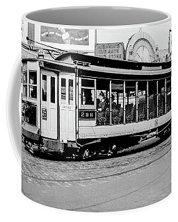 Coffee Mug featuring the photograph Inwood Crosstown Trolley  by Cole Thompson