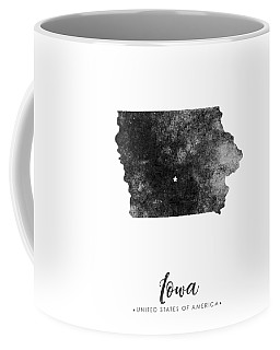 Iowa State Map Art - Grunge Silhouette Coffee Mug