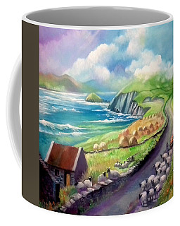 Coffee Mug featuring the painting Ireland Co Kerry by Paul Weerasekera