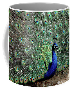 Iridescent Blue-green Peacock Coffee Mug