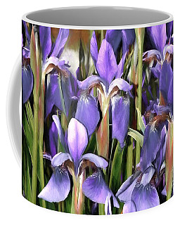 Coffee Mug featuring the photograph Iris Fantasy by Benanne Stiens