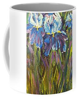 Iris Floral Garden Coffee Mug