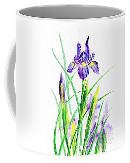 Iris Flowers Botanical  Coffee Mug