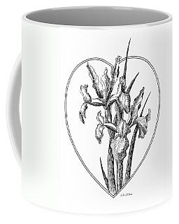 Iris Heart Drawing 3 Coffee Mug