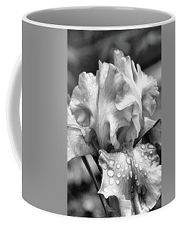 Coffee Mug featuring the digital art Iris In Black And White by Bonnie Willis