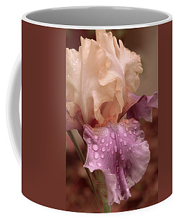 Coffee Mug featuring the digital art Iris In The Rain by Bonnie Willis