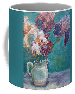Iris Medley - Original Impressionist Painting Coffee Mug by Quin Sweetman