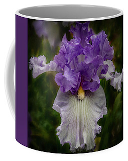 Coffee Mug featuring the photograph Iris Standout by Jean Noren