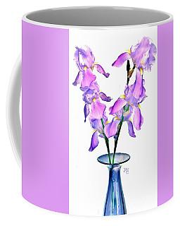 Iris Still Life In A Vase Coffee Mug by Marsha Heiken