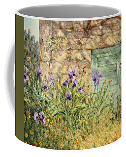 Irises At The Old Barn Coffee Mug