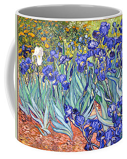 Coffee Mug featuring the painting Irises by Van Gogh
