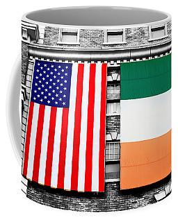 Irish American Flags Fusion Coffee Mug