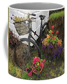 Irish Bike And Flowers Coffee Mug