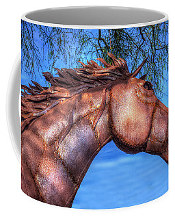 Coffee Mug featuring the photograph Iron Horse by Paul Wear