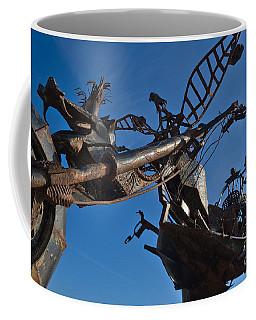 Iron Motorcycle Sculpture In Faro Coffee Mug by Angelo DeVal