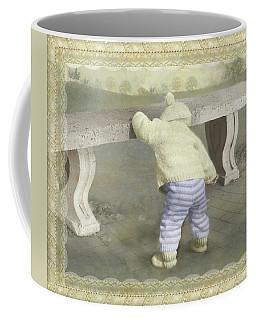 Is Bunny Under The Bench? Coffee Mug
