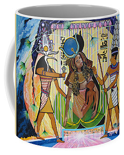 Blaa Kattproduksjoner     Presents Isis Giving Birth To Horus Coffee Mug