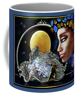 Coffee Mug featuring the mixed media Island Dream by Hartmut Jager