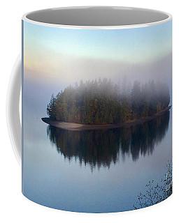 Island In The Autumn Mist Coffee Mug