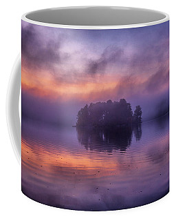 Coffee Mug featuring the photograph Island In The Fog by Lilia D