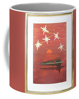 Coffee Mug featuring the painting Island In The Sky With Diamonds by Ron Davidson