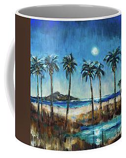 Island Lagoon At Night Coffee Mug