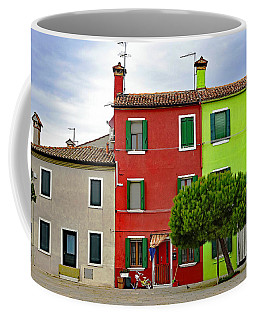 Island Of Burano Tranquility Coffee Mug by Richard Rosenshein
