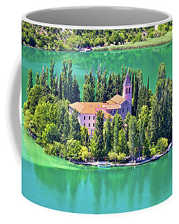 Island Of Visovac Monastery In Krka  Coffee Mug