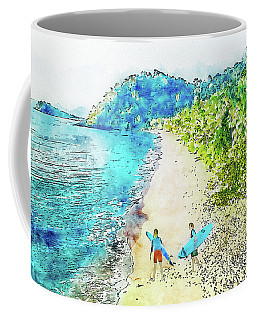 Island Surfers Coffee Mug