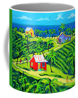Island Time - Colorful Houses Caribbean Cottages Coffee Mug