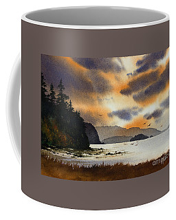 Coffee Mug featuring the painting Islands Autumn Sky by James Williamson