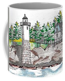 Isle Au Haut Lighthouse Coffee Mug