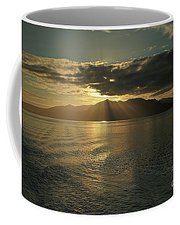 Coffee Mug featuring the photograph Isle Of Arran At Sunset by Maria Gaellman