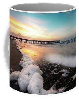 Isle Of Palms Pier Sunrise And Sea Foam Coffee Mug