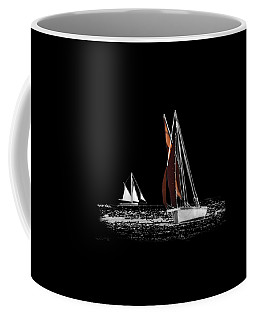 Isolated Yacht Carrick Roads On A Transparent Background Coffee Mug