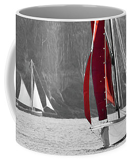 Isolated Yacht Carrick Roads Coffee Mug