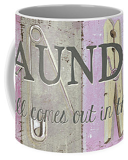 Coffee Mug featuring the painting It All Comes Out In The Wash by Debbie DeWitt