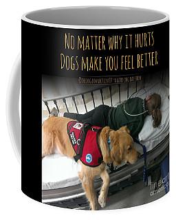 Coffee Mug featuring the digital art It Hurts by Kathy Tarochione