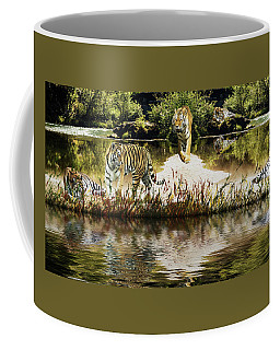 Coffee Mug featuring the photograph It Must Be Time For A Tiger Nap by Diane Schuster