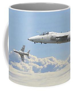 Coffee Mug featuring the digital art Italian Air Force - Ghibli by Pat Speirs
